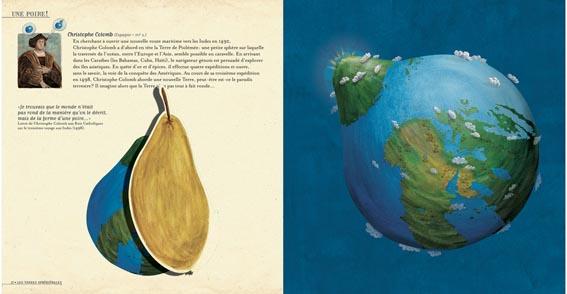 La terre selon Christophe Colomb lors de sa troisième expédition au large du Vénézuela