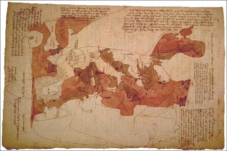Carte d'Opicinus de Canistris (1296-1353)